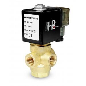 3-way solenoid valve 3V 3x1 / 4 inch 230V 24V 12V