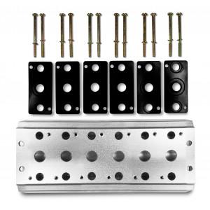 Συλλεκτική πλάκα για σύνδεση 6 βαλβίδων 1/4 σειρά 4V2 4A ακροδέκτης βαλβίδας ομάδας 5/2 5/3