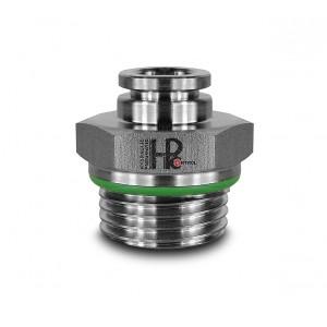 Συνδέστε τη μάνικα από ανοξείδωτο χάλυβα με ίσια θηλή 8mm σπείρωμα 3/8 ιντσών PCS08-G03