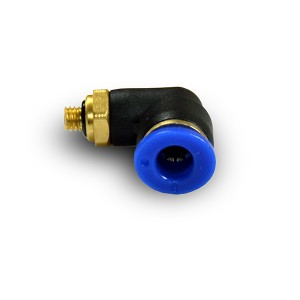 Γωνιακός εύκαμπτος σωλήνας θηλών 4mm σπείρωμα M5 PL04-M05
