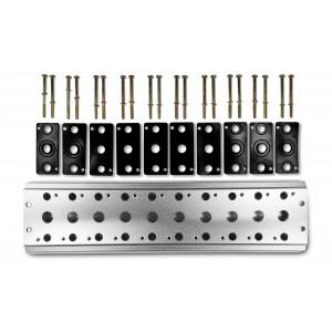 Συλλεκτική πλάκα για σύνδεση 10 βαλβίδων 1/4 σειρά 4V2 4A ακροδέκτης βαλβίδας ομάδας 5/2 5/3