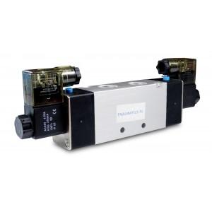 Ηλεκτρομαγνητική βαλβίδα 4V220 5/2 1/4 ιντσών για πνευματικούς κυλίνδρους 230V ή 12V, 24V
