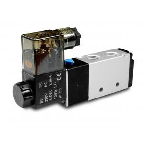 Ηλεκτρομαγνητική βαλβίδα 5/2 4V410 1/2 ίντσα για πνευματικούς κυλίνδρους 230V ή 12V, 24V