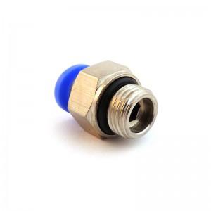 Συνδέστε τον ίσιο σωλήνα θηλών 12mm σπείρωμα 1/4 ιντσών PC12-G02