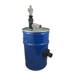 Zbiornik odkurzacza z samooczyszczaniem sprężonym powietrzem