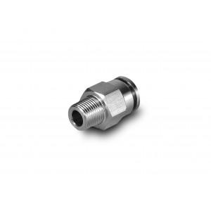 Συνδέστε τον εύκαμπτο σωλήνα από ανοξείδωτο χάλυβα θηλής 6mm σπείρωμα 3/8 ιντσών PCSW06-G03
