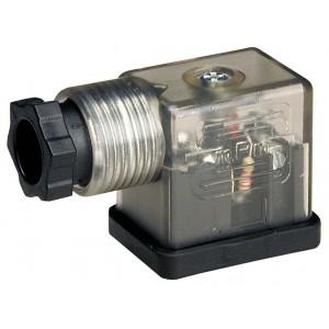 Συνδέστε την ηλεκτρομαγνητική βαλβίδα DIN 43650B με LED - μικρό