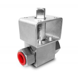 Βαλβίδα υψηλής πίεσης 1/4 ιντσών SS304 HB22 πλάκα στήριξης ISO5211