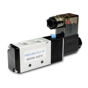 Ηλεκτρομαγνητική βαλβίδα προς πνευματικούς κυλίνδρους 4V210 5/2 1/4 230V 12V 24V