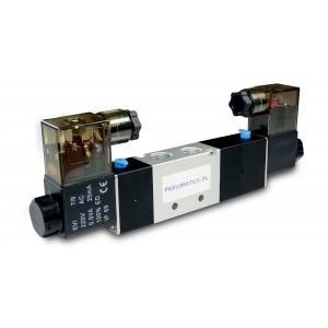 Ηλεκτρομαγνητική βαλβίδα 4V230C 5/3 1/4 ιντσών για πνευματικούς κυλίνδρους 230V ή 12V, 24V