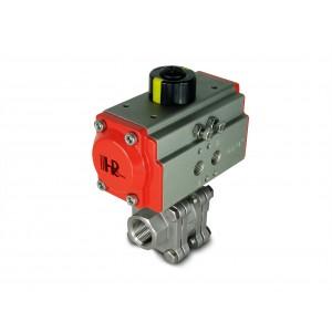 1/2 ίντσα υψηλής πίεσης βαλβίδα DN15 PN125 με πνευματικό ενεργοποιητή AT40