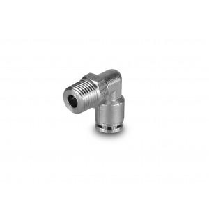 Συνδέστε τον εύκαμπτο σωλήνα από ανοξείδωτο χάλυβα με γωνιακή θηλή 10mm σπείρωμα 1/4 ιντσών PLSW10-G02