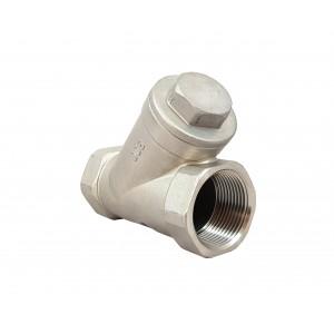 Ελέγξτε τη βαλβίδα τύπου Y DN15 1/2 ίντσας - ανοξείδωτο ατσάλι SS316